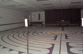 Labyrinth in Kilworth Chapel